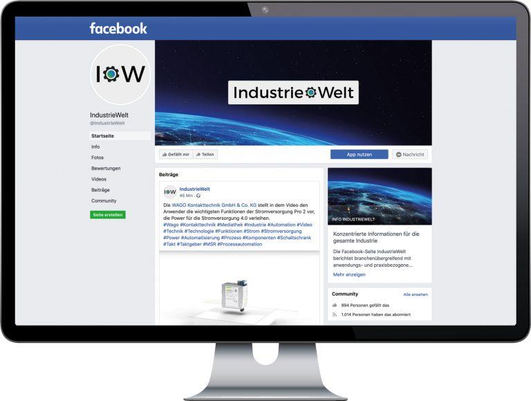 IndustrieWelt Welt Facebook YouTube PROZESSTECHNIK Prozess Technik Fachmagazin Fachzeitschrift Zeitschrift Magazin Industrie Branche