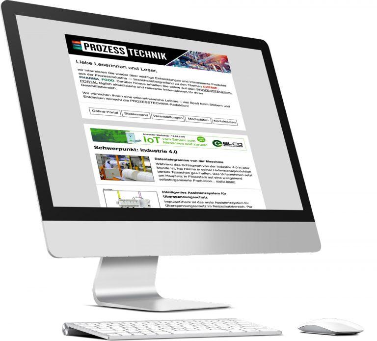 News Newsletter PROZESSTECHNIK Prozess Technik Media Mediaunterlagen Mediadaten Fachmagazin Fachzeitschrift Zeitschrift Magazin Industrie Branche