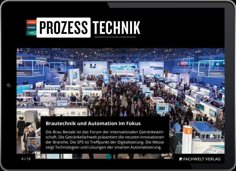 E-Magazine App PROZESSTECHNIK Prozess Technik Media Mediaunterlagen Mediadaten Fachmagazin Fachzeitschrift Zeitschrift Magazin Industrie Branche