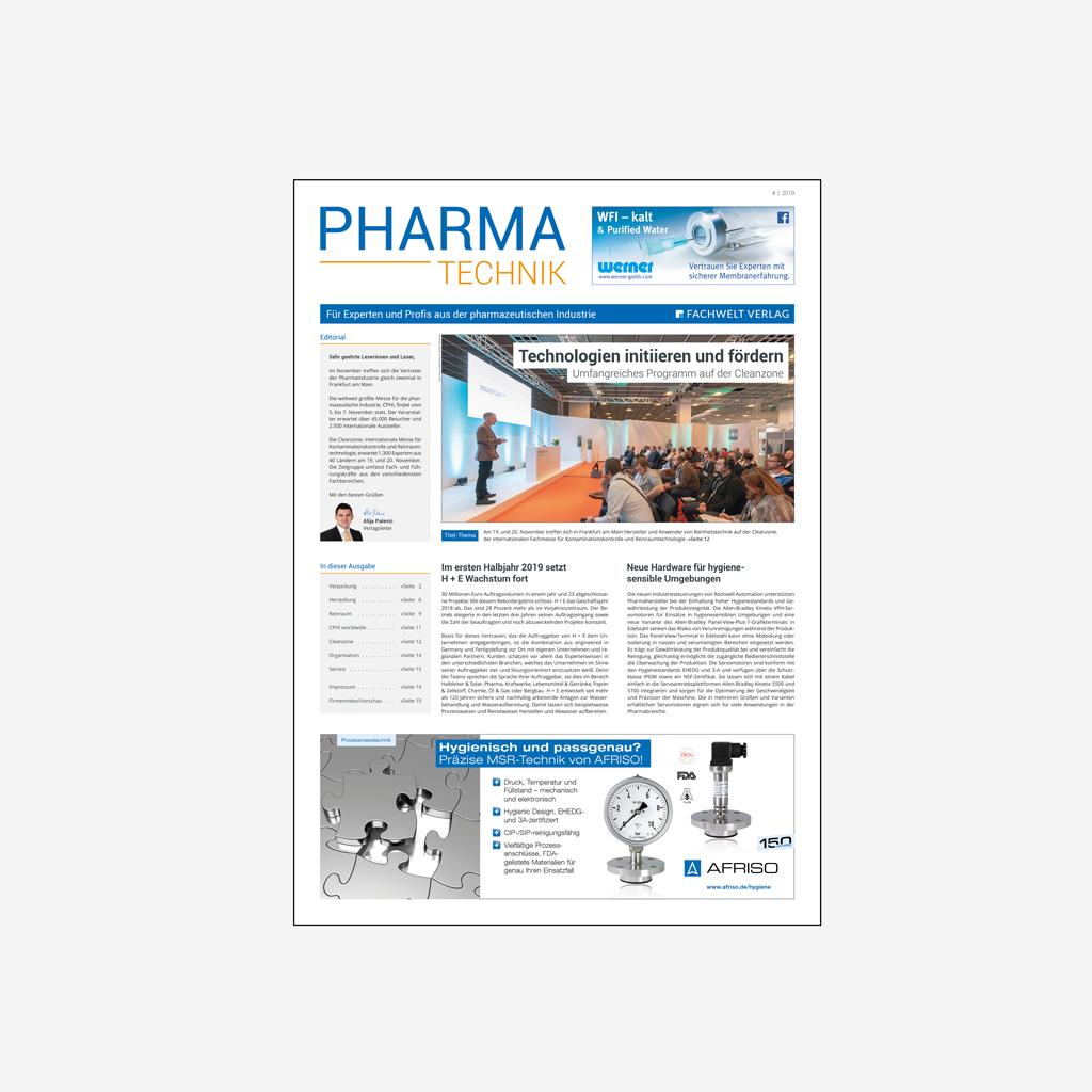 PHARMATECHNIK Pharma Technik Media Mediaunterlagen Mediadaten Fachmagazin Fachzeitschrift Zeitschrift Magazin Industrie Branche