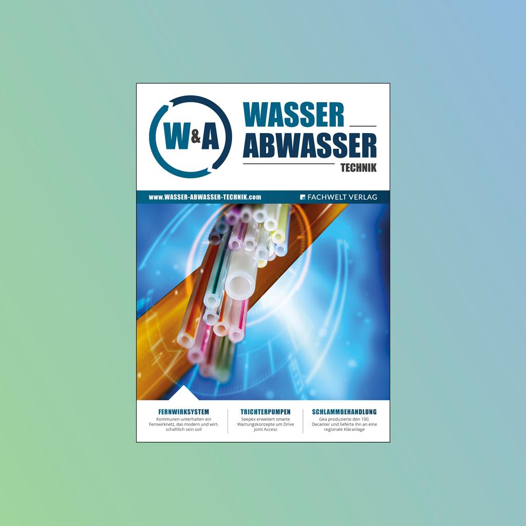 W&A WASSER & ABWASSER TECHNIK Logo Media Mediaunterlagen Mediadaten Fachmagazin Fachzeitschrift Zeitschrift Magazin Industrie Branche